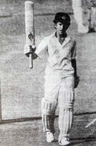 sachin first fifty childhood records