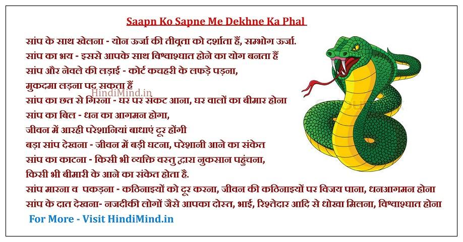 Sapne me saanp dekhna, sapne me saap dekhna hindi, snake dream meaning in hindi