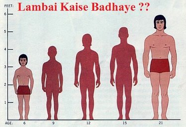lambai kaise badhaye increase height tips in hindi